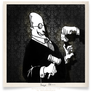 judge justice atticus bribe daily mobster cartoon character design illustration sketchbookjack
