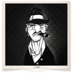 leo black old man daily mobster sketchbookjack character design cartoon illustration gangster hat cigar big nose