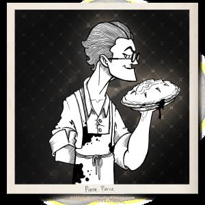 Pierre Pierce Pie Baker Character Illustration Design Mobster Gangster