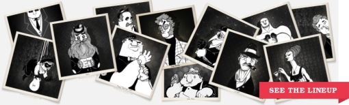 the daily mobster full criminal mobster gangster lineup polaroids mugshots cartoon comics character designs illustration art sketchbookjack