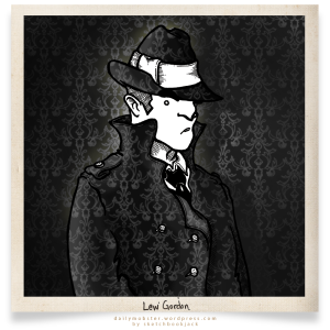 Daily Mobster Sketchbookjack Private Eye Detective Character Design Cartoon Comic Mugshot Gangster camouflage trenchcoat  fedora trilby wallpaper blend hidden hiding